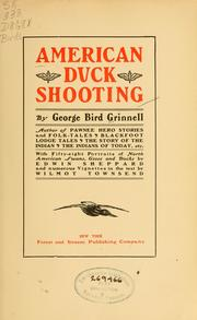 American duck shooting by Grinnell, George Bird