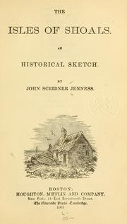 Cover of: Isles of Shoals. | John Scribner Jenness