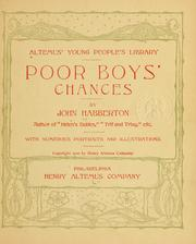Cover of: Poor boys' chances