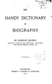 Cover of: The handy dictionary of biography