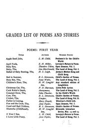 Cover of: graded list of poems and stories for use in schools | Charles B. Gilbert
