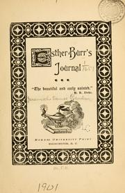 Cover of: Esther Burr's Journal