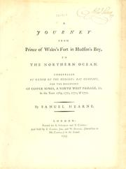 Cover of: A journey from Prince of Wales's Fort in Hudson's Bay, to the Northern Ocean