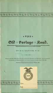 Cover of: old portage road | Taylor, H. C.