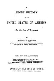 Cover of: A short history of the United States of America: for the use of beginners