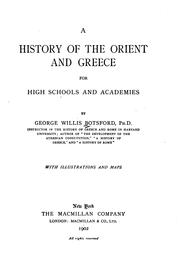 Cover of: A history of the Orient and Greece: for high schools and academies