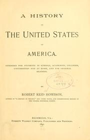 Cover of: history of the United States of America. | Robert Reid Howison