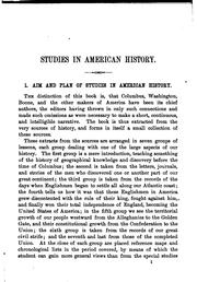 Cover of: Studies in American history | Mary Sheldon Barnes