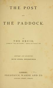 The post and the paddock by Henry Hall Dixon