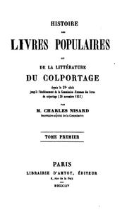 Histoire des livres populaires by Nisard, Charles