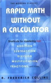 Cover of: Rapid Math Without A Calculator