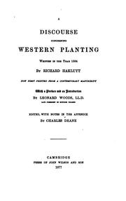Cover of: A discourse concerning western planting