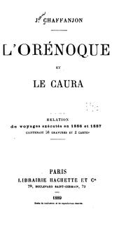 Cover of: L' Orénoque et le Caura