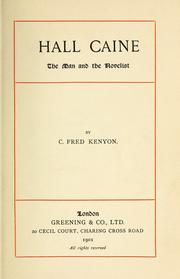 Cover of: Hall Caine | C. Fred Kenyon