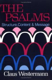 Cover of: The Psalms: structure, content & message