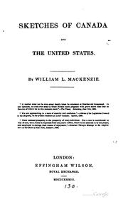 Cover of: Sketches of Canada and the United States