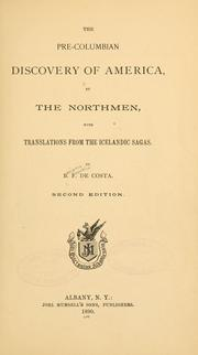 Cover of: The pre-Columbian discovery of America by the Northmen
