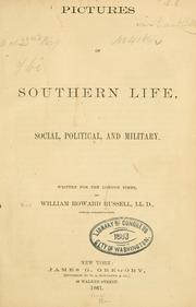 Cover of: Pictures of southern life, social, political, and military
