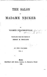 Cover of: The salon of Madame Necker by Haussonville comte d'