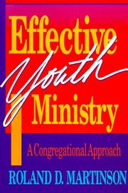 Cover of: Effective youth ministry