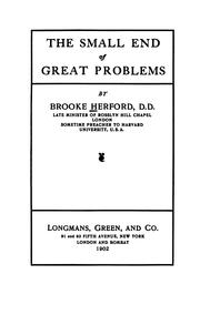 Cover of: The small end of great problems