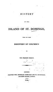 Cover of: History of the island of St. Domingo |
