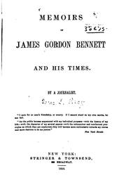 Cover of: Memoirs of James Gordon Bennett and his times