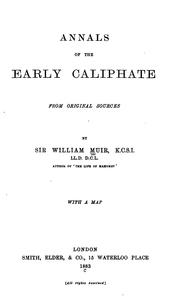 Cover of: Annals of the early Caliphate