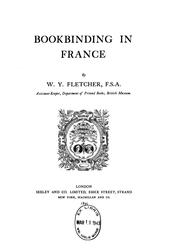 Cover of: Bookbinding in France