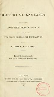 Cover of: A history of England by M. A. Rundall