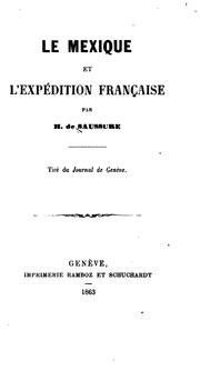 Cover of: Le Mexique et l'expédition franc̜aise