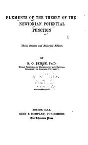 Cover of: Elements of the theory of the Newtonian potential function