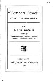 Cover of: Temporal power | Marie Corelli