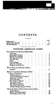 Cover of: Younger American poets, 1830-1890