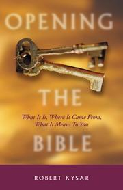 Cover of: Opening the Bible | Robert Kysar