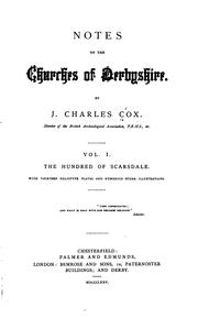 Cover of: Notes on the churches of Derbyshire. | J. Charles Cox
