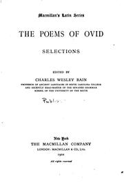 Cover of: The poems of Ovid: selections