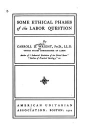 Cover of: Some ethical phases of the labor question