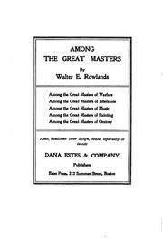 Cover of: Among the great masters of warfare | Walter Rowlands