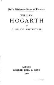 Cover of: William Hogarth | G. Elliot Anstruther
