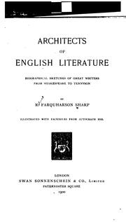 Cover of: Architects of English literature