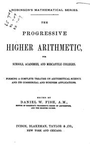 Cover of: progressive higher arithmetic | Horatio N. Robinson