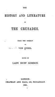 Cover of: The history and literature of the crusades