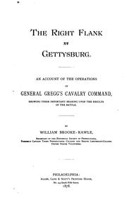 Cover of: right flank at Gettysburg | Rawle, William Brooke