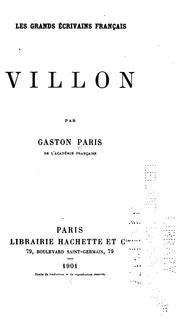 Cover of: François Villon