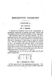 Cover of: Descriptive geometry | Hall, William S.