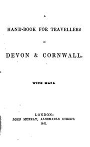 Cover of: A hand-book for travellers in Devon & Cornwall ..