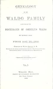 Genealogy of the Waldo family by Waldo Lincoln
