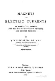 Cover of: Magnets and electric currents