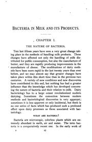 Cover of: Bacteria in milk and its products | Herbert William Conn